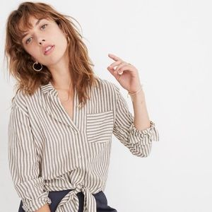 Madewell Stripped Button Up